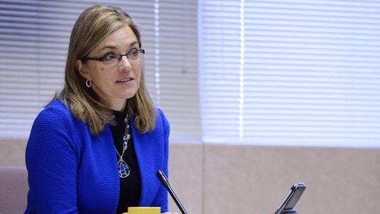 Argus Leader file photo. Minnehaha County Commissioner Cindy Heiberger and the county commission adopted next year?s budget. Minnehaha County Commissioner Cindy Heiberger and the county commission adopted next year's budget.