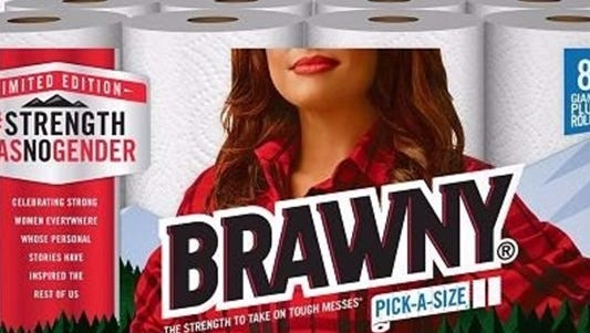 The popular Georgia-Pacific paper towel brand is replacing its iconic, flannel-wearing man with a woman in a nod to Women's History Month in March.