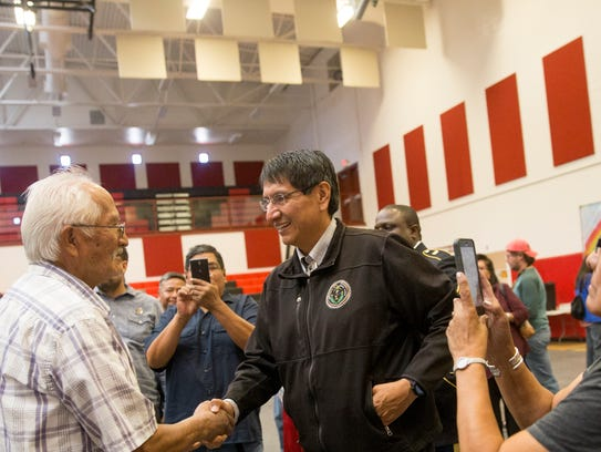Navajo Nation Vice President Jonathan Nez has thrown his hat in the ring for the position of Navajo Nation president.