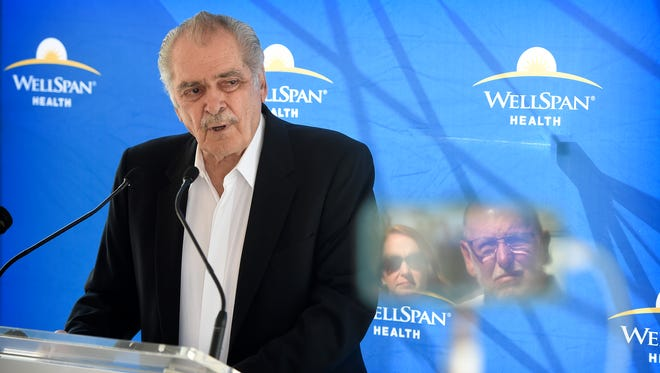 Francis J. Dixon announced he had donated a $2 million gift to Wellspan to help establish a health and wellness center.