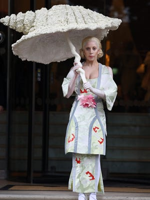 Lady Gaga seen leaving her hotel on Oct. 31, 2013 in London.