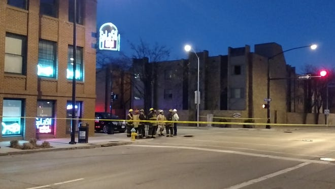 A gas leak blocked off several streets in downtown Des Moines Thursday evening.