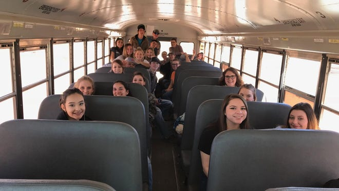 Las Cruces FFA members return from a judging competition.