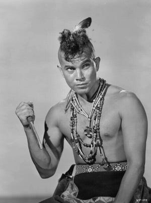 "Tommy Cook as an Iroquois named Keoga in ""Mohawk"" (1956)."