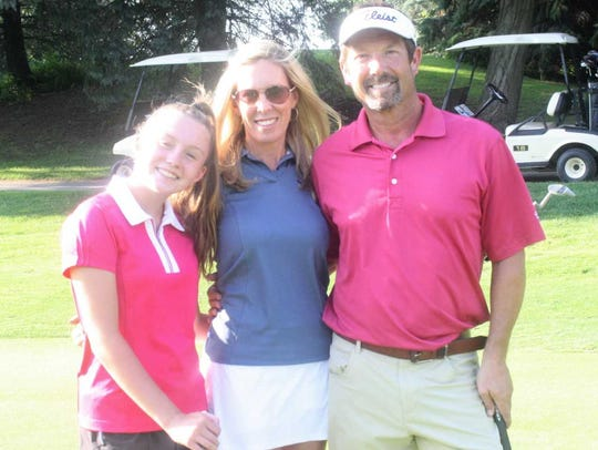 Prior to their round Aug. 2 at Hilltop Golf Course (from left) Avery Thaxton, Christy Thaxton and George Anderson offered some ideas on what they'd like to see the course evolve into.