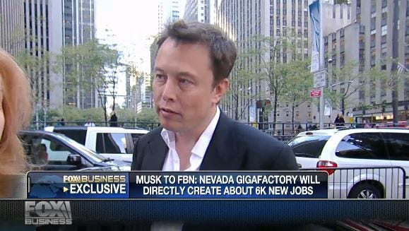 Tesla CEO Elon Musk talked to Fox Business News today.
