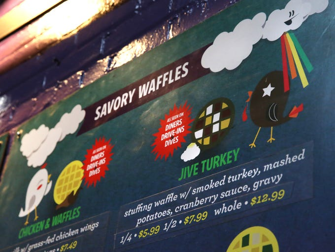 The newly opened Funk N Waffles, located in the former