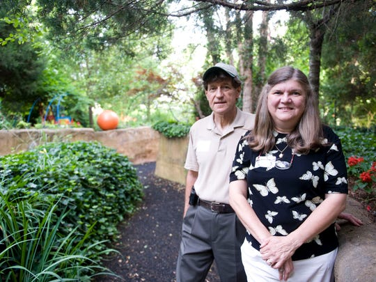 Mike Devlin is executive director of the Camden Children's Garden and Valerie Frick is its director of education.