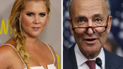 Cousins Amy and Chuck Schumer.