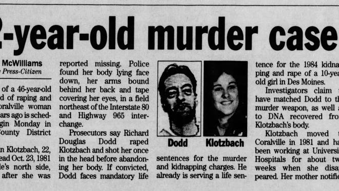 """""""On the Case with Paula Zahn"""" will take a look at the 1981 murder of VickiLynn Klotzbach."""
