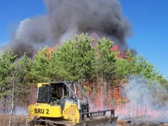 A fire near Pembine in Marinette County in 2016.