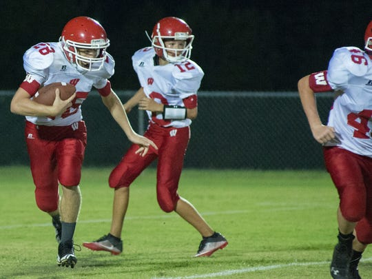 Westmoreland Middle's Collin Casteel rushed for 248