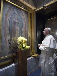 This image released by the Vatican shows Pope Francis