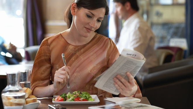 On average, Americans spend about $20 per week getting lunch in restaurants.