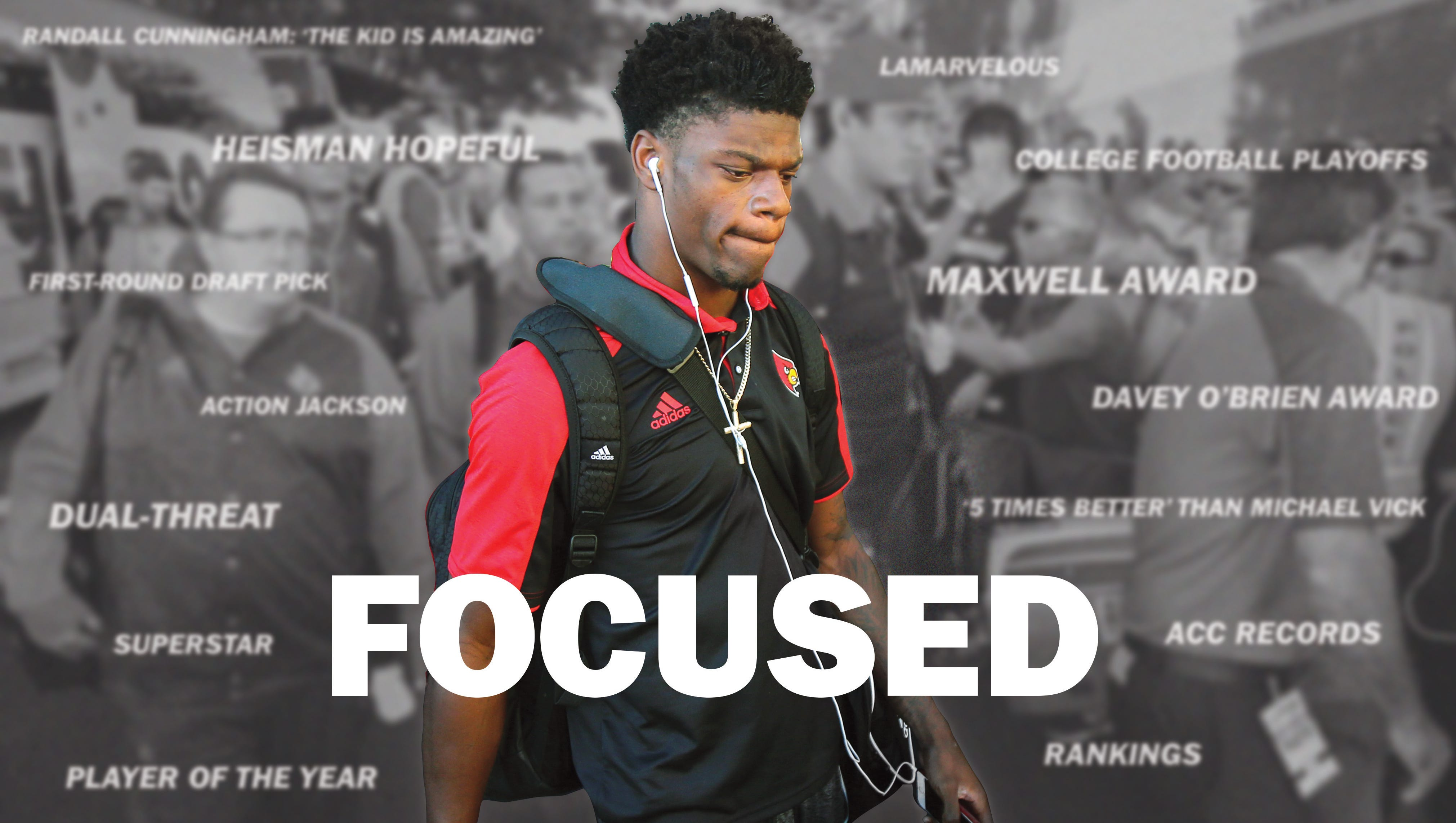 Louisville Football Quiet And Private Lamar Jackson S Play Speaks Volumes