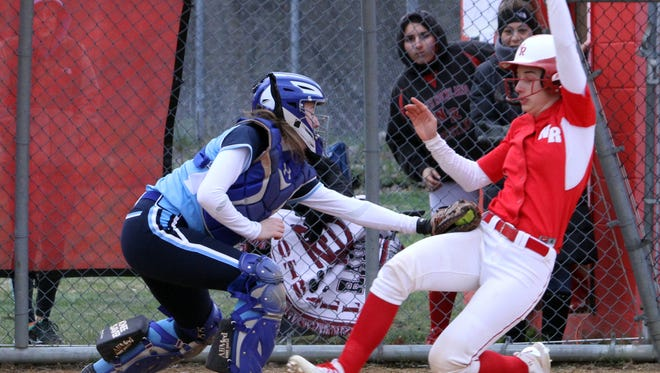 North Rockland defeated Ursuline 6-5 in a varsity softball game at North Rockland High School April 7, 2016.