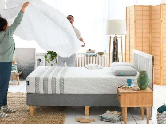 The Leesa Hybrid mattress provides the perfect balance of comfort and support.