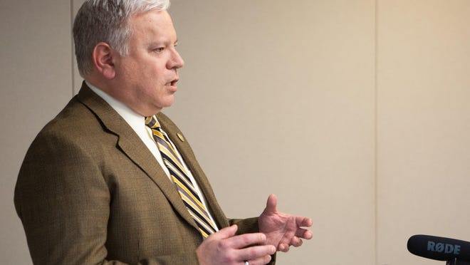 Topeka city manager Brent Trout plans to recommend eliminating 32.5 full-time positions in the proposed 2021 budget he will put before the mayor and city council.