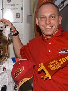 Clayton Anderson is a former NASA astronaut who participated in two space flights. He is now a distinguished faculty fellow in Iowa State University's aerospace engineering department.
