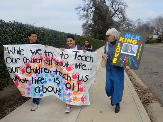 The 16th annual MLK march hosted by the Boys and Girls
