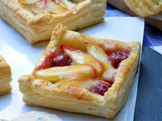 Purchased puff pastry makes easy work of these almond