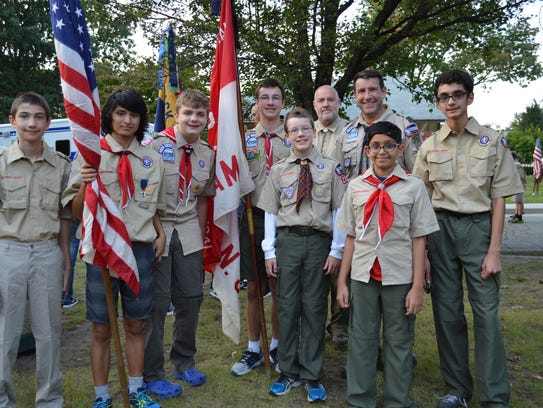 Boy Scouts from Mahwah Boy Scout Troop 258.