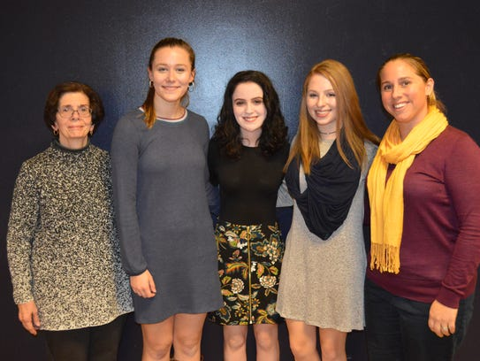The RHS Social Studies Honor Society officers. Pictured