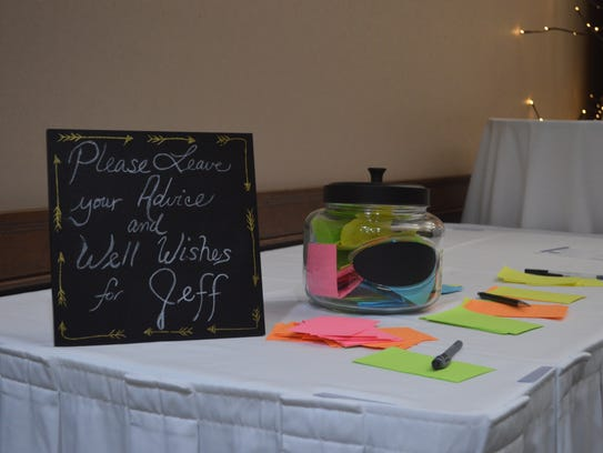 Attendees could write messages for Wausau Police Chief
