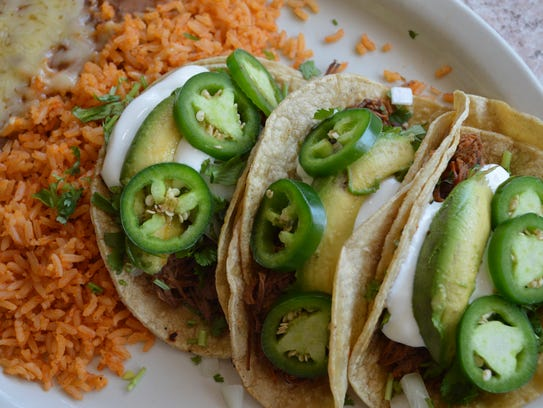 Dr. Kelly's taco special comes with three shredded