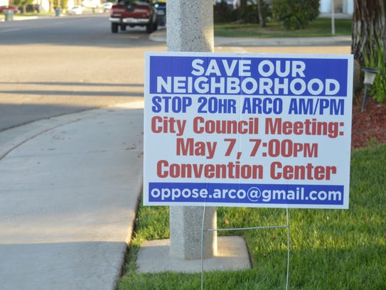 South Visalia residents are opposing a proposed Arco