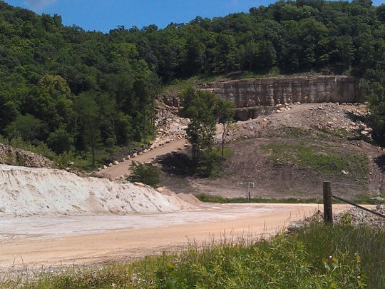 An entrance on the west end of a Pattison Sand Company mine in rural Clayton County is seen in 2014.