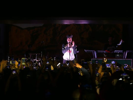 El Paso artist Khalid performed Saturday at Tricky Falls.