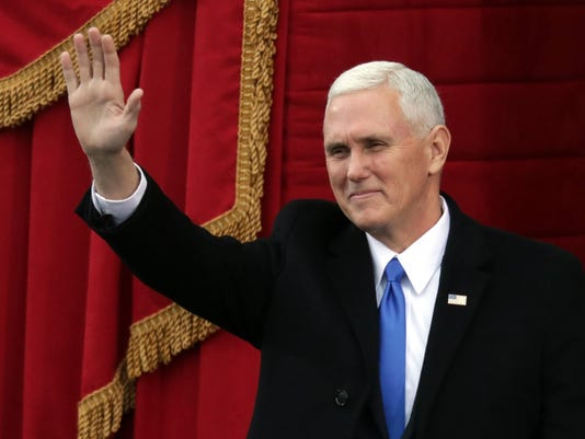 IndyStar stock Pence stock mike pence inauguration wave