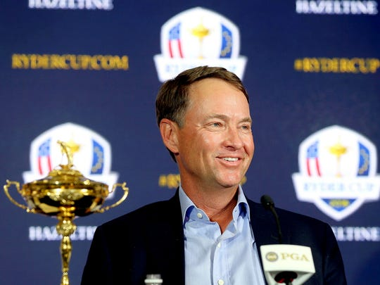 Davis Love III, at a news conference in Palm Beach Gardens, Fla., led the U.S. team in 2012. He is the captain for 2016, but the Americans plan a different approach.