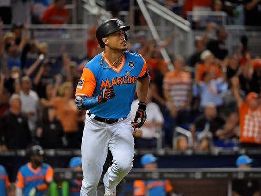 USP MLB: SAN DIEGO PADRES AT MIAMI MARLINS S BBN MIA SD USA FL