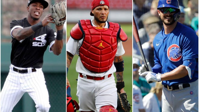 Tim Anderson of the Chicago White Sox; Yadier Molina of the St. Louis Cardinals; and Kris Bryant of the Chicago Cubs.