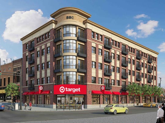 Target announced Thursday that it plans to put the company's first small-format store in Indiana at the corner of State Street and Northwestern Avenue in West Lafayette. The store would be the retail portion of a five-story, mixed-use project, replacing a building that has been abandoned for the past five years in the West Lafayette Village, two blocks from Purdue University.