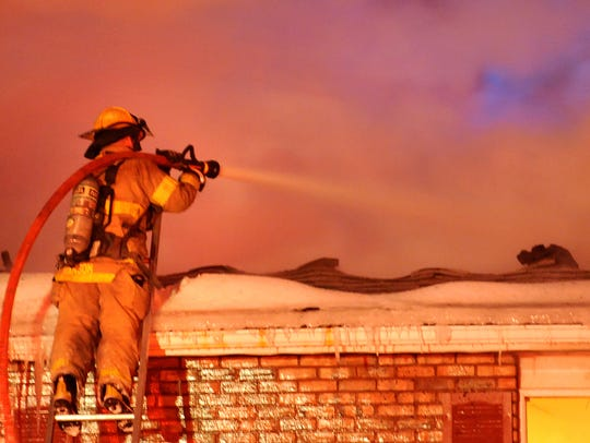 Mansfield firefighters battle flames at 1240 Canteberry