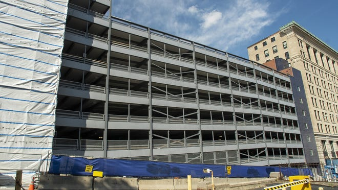 Renovations to Wocester's Pearl-Elm municipal parking garage are nearly complete.