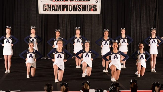Appleton North High School's performance team won the recent State Cheer Championships in Madison.