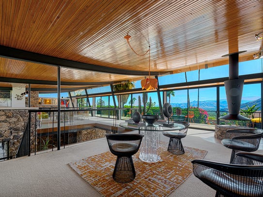 Upstairs at the Alexander House, a residence designed by midcentury modern architect Walter S. White.