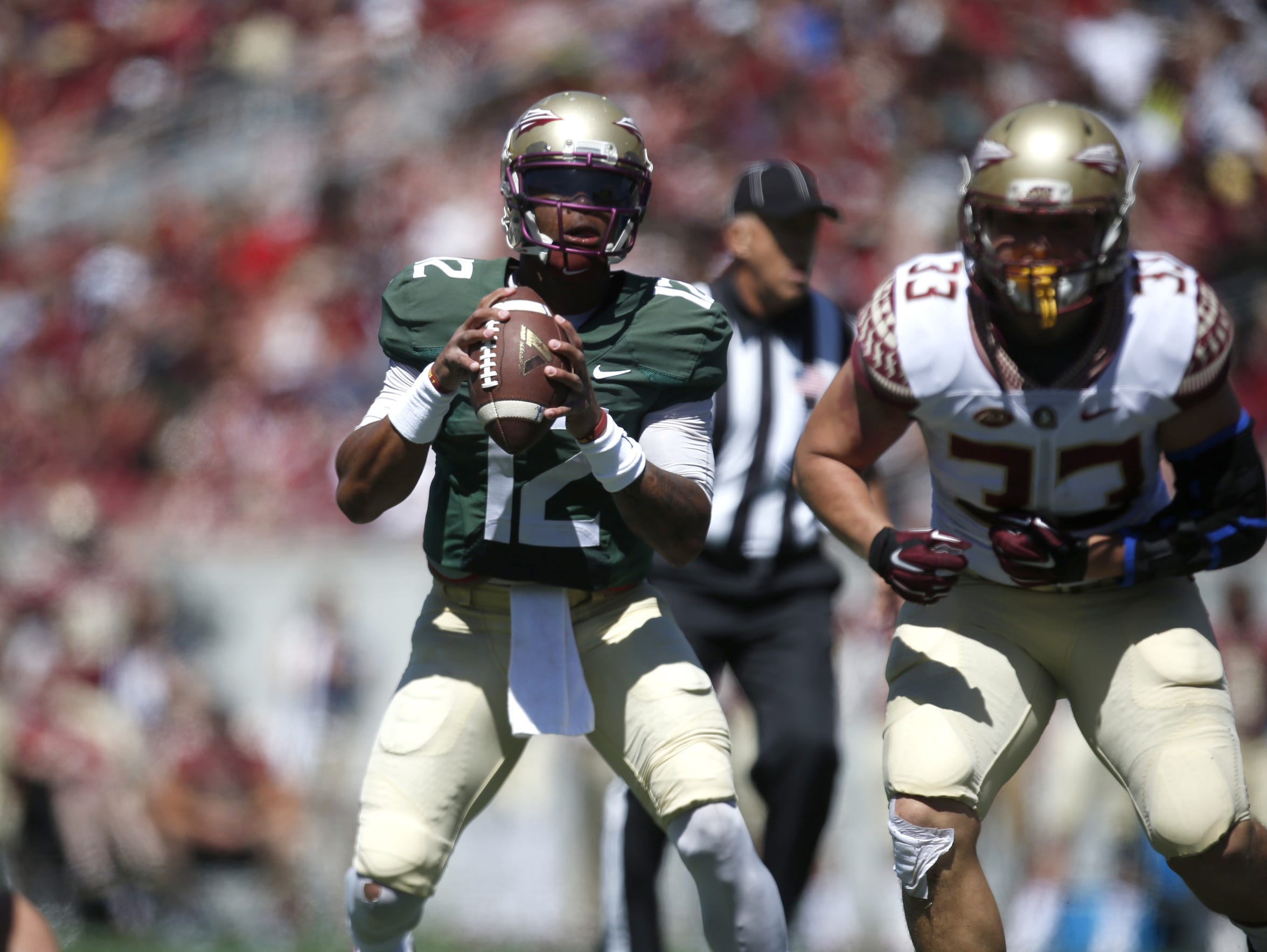 Deondre Francois tossed for 246 yards and two touchdowns