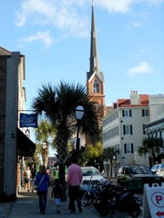 King Street in downtown Charleston, which is lined with retailers and restaurants, is usually bustling with tourists and locals alike.