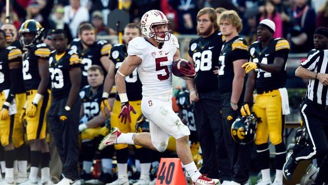 Stanford Cardinal running back Christian McCaffrey.