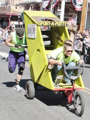 Sport-a-Potty was one of the cleverly named racers.