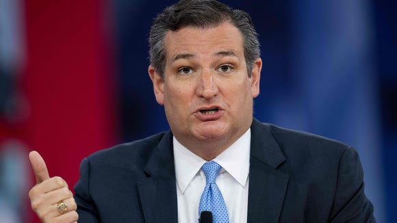 Sen. Ted Cruz, R-Texas, speaks during the 2018 Conservative Political Action Conference at National Harbor in Oxon Hill, Maryland., Feb. 22, 2018.