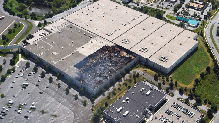 An aerial view of the Gap distribution center in Fishkill