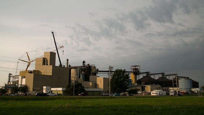 Archer Daniels Midland (ADM) is increasing its soy production and area residents are concerned this will mean more hazardous air pollutants from the plant, which is already Polk County's largest air polluter. Here the plant is seen in Des Moines on Sept. 23.