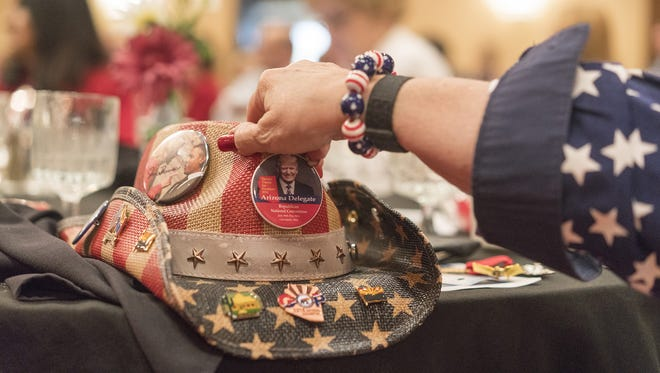 Arizona's delegation to the Republican National Convention has a breakfast sponsored by the Arizona businesses at the Doubletree Hotel on July 18, 2016.