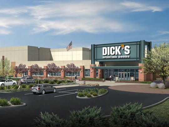An artist's rendering of new Dick's Sporting Goods